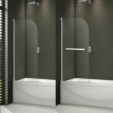 Bathroom 180°Pivot Hinge Folding Bath Shower Screen Over Bath Door Panel&seal