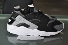 Nike Huarache Run GS Black 654275 001 Wolf Grey White Dt Max 96 Veer Strong