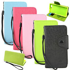 Wallet MLT Button Stand Leather Flip Case Cover For Sony Xperia Z3 Compact Mini