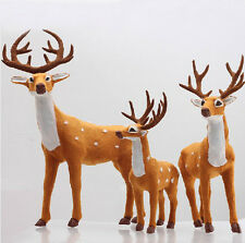 HOT Christmas Holiday Party Decor Xmas Reindeer Ornament Sika Deer Outdoor Stand