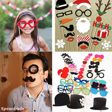 DIY Photo Booth Props Lips Sticker Mustache For Wedding Birthday Christmas Party