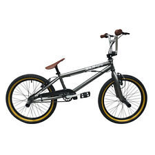 "Rooster Zuka 20"" Wheel Matt Grey/Brown Freestyler BMX Bike, New 2015 Models"