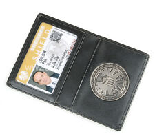 THE AVENGERS AGENTS OF S.H.L.E.L.D SHIELD BADGE IN LEATHER WALLET OR HOLDER