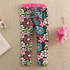 New Baby Girls Kids Children Stretch Sunflower Leggings Casual Pants for 1-6Y