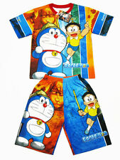 Doraemon Polyester Outfit Set T-Shirt+Shorts #108 Blue Size 6-8 age 4-8