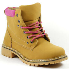 Women's Round Toe Lace Up Work Ankle Fashion Boot Nature Breeze Tesla