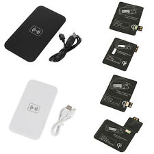 Qi Wireless Power Charger Charging Pad +Receiver Lot For Samsung Galaxy S3 S5