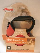 Brand New Flexi Freedom Retractable Dog Leash  Size M Colors Black,Pink & Blue