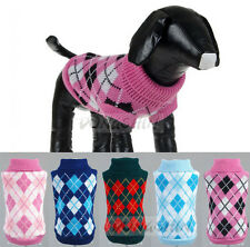 CUTE KNITTED DOG JUMPER SWEATER PET WARM CLOTHES SMALL DOG CAT PUPPY COAT Xmas