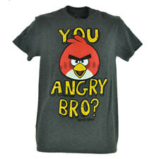You Angry Bro Big Red Birds Video Game Smart Phone Gray Graphic Tshirt Tee