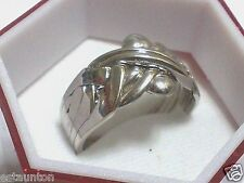 14k White Gold - 6 Band Turkish Puzzle Ring - FREE SHIPPING EVERYWHERE