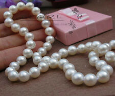 """80%OFF 11-12mm 16"""",17"""",18"""",19"""",20"""" Akoya Natural White Pearls Necklace Handmade"""