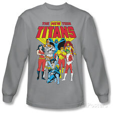 Long Sleeve: Teen Titans - New Teen Titans T-Shirt Silver