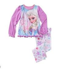 Disney Frozen ELSA 2pc Poly Fleece Set Pajama PJ's Sleepwear Sleeper Girls-NEW