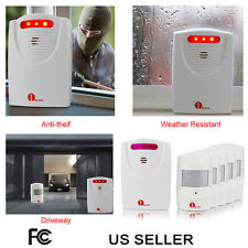 100M PIR Driveway Patrol Infrared Wireless Home Security Alert Alarm System