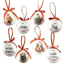 Christmas Pet Baubles - 21 Dog Breeds Available - Believe In Santa Paws