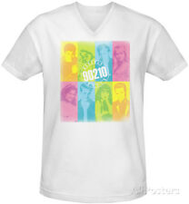 Beverly Hills 90210 - Color Block Of Friends V-Neck T-Shirt White