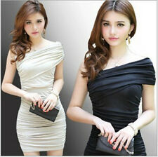 New Fashion Women Sexy Solid Casual Evening Cocktail Girls Party Miniskirt Dress