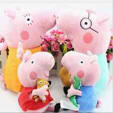 "Peppa Pig Family Stuffed Toy Plush Doll DADDY MUMMY 7.5""/10""12"" Peppa GEORGE New"