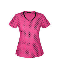 HeartSoul Because I Love You V Neck Scrub Top 20951 DTFT