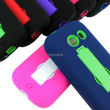For Samsung Galaxy Ace Style S765C Rugged Impact Hybrid Hard Case Cover Stand