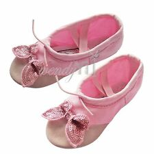 Butterfly Ballet Shoe Canvas Kids Girl Xmas Gift Dance Party Gymnastics Slippers