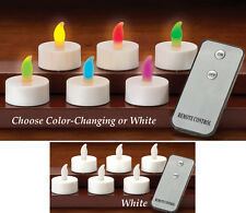 Collections Etc Led Remote Control Tealights - Set Of 6