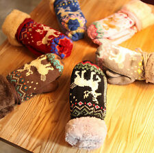 Unisex  Thick Warm Wool gloves Lady Cute Deer Mittens Knitted Warm Warmer Gloves