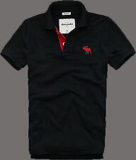 Mens Abercrombie & Fitch Hollister Vintage Polo Shirt Black S M L XL XXL T-Shirt