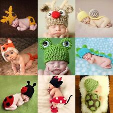 NewBorn Baby Girls Boys Crochet Knit Costume Clothes Photo Photography Prop Hat