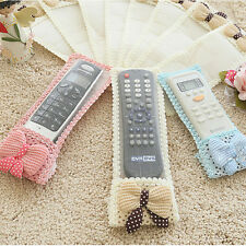 Bowknot Lace Remote Control Dustproof Case Cover Bags TV Air Condition Protector