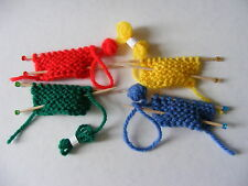 Tiny Hand Knitted Knitting Needles & Wool Collecton