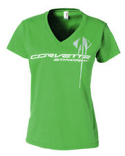 Corvette Ladies C7 Overlay T-Shirt Green Apple
