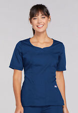 Galaxy Blue Cherokee Workwear V Neck Scrub Top 4746 GABW