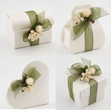 Luxury DIY Wedding Party Favour Gift Sweet Boxes - IVORY SPHERE Pearlised Range