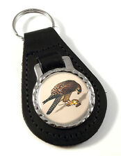 Merlin Falcon Leather Key-fob/Metal Keyring
