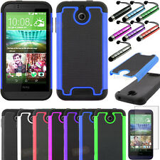 Armor Shockproof Impact Rugged Hybrid Hard Case Cover For HTC Desire 510+Film