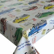 Wax Table Cloth Cuba US Cars 140 cm Wide Different Lengths Available