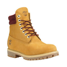"""Timberland 6613A Mens Sizes Waterproof 6"""" Inch Wheat Red Plaid Double Sole Boots"""
