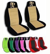 2 Front Hatchet Woman Velvet Seat Covers with 20 Color Options