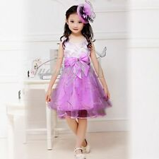 Kids Girls Princess Tutu Party Wedding Birthday Bridesmaid Dress Christmas Gift
