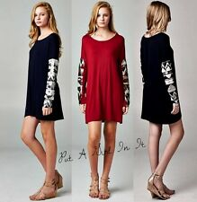 SEXY SEQUIN AZTEC TRIBAL LONG SLEEVE SOLID BLACK TAUPE MINI DRESS TUNIC S M L