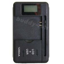 Mobile Cell Phone Universal Battery Charger LCD Indicator Screen 1 USB-Port BDRG