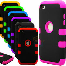 New Hybrid Rugged Combo Rubber Matte Hard Case Cover for iPod Touch 4 iTouch 4G