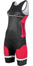 Santini SMS Sleek 2.0 Womens Aero Tri Suit Coral Red 2016