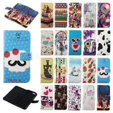 JACCY - Patterned Wallet Purse Leather Flip Stand Pouch Soft Protect Case Cover