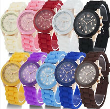 Sale Geneva Watch Silicone Quartz Boy Girl Unisex Fruit Jelly Wrist Watch