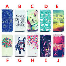 For Various CellPhone Cool Hot Stand Wallet Flip Pu Leather 2 Card Case Cover #F