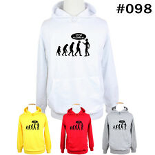 Stop Following Me Funny Human Evolution Hoodie Mens Lady's Sweatshirt Hoody Tops