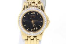 Ladies Citizen EL2602-61E Quartz Diamond Gold-Tone Stainless Steel Watch